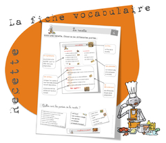 Vocabulaire : la recette
