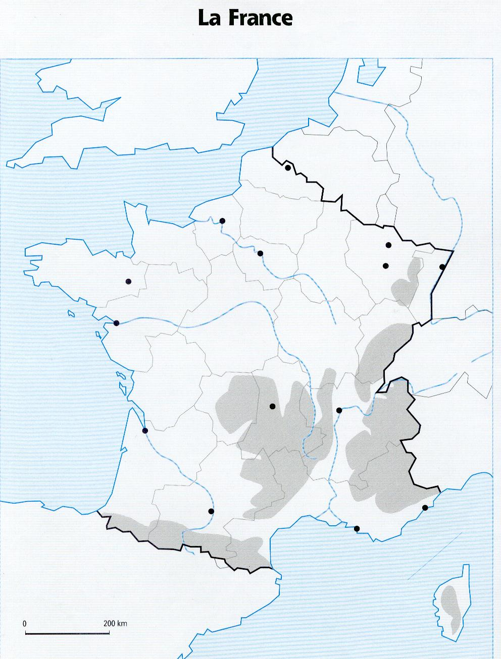 carte de france vierge cycle 3