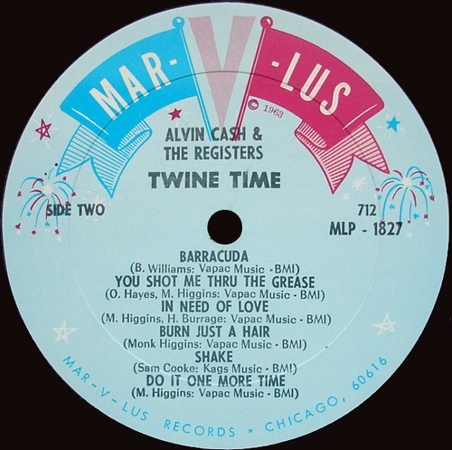 "1965 : Album "" Twine Time "" Mar - V - Lus Records MLP 1827 [ US ]"