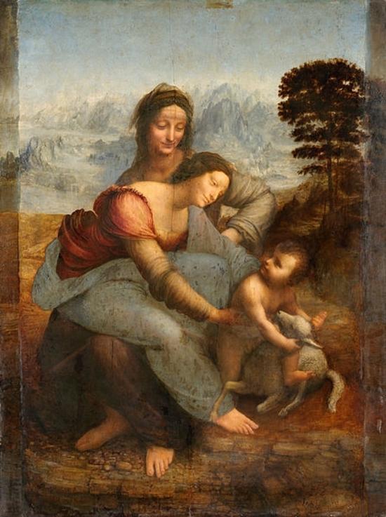 447px-La_Vierge,_l'Enfant_Jésus_et_sainte_Anne,_by_Leonardo_da_Vinci,_from_C2RMF_retouched