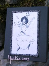boîte paper faric,danseuse