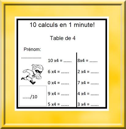 10 calculs