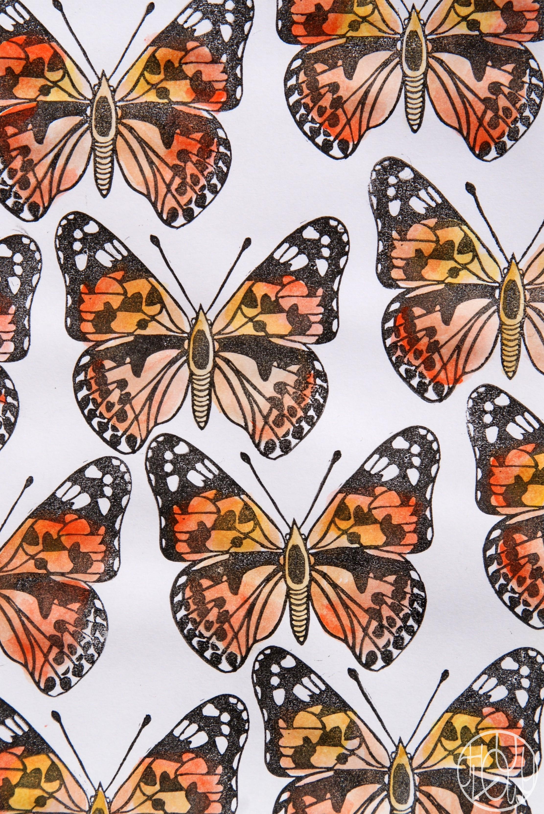 dfi gravure 3052 tampon papillon belle dame