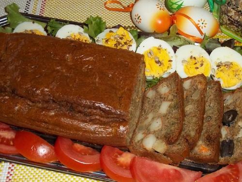 Cake niçois au petits légumes et surimi-THERMOMIX