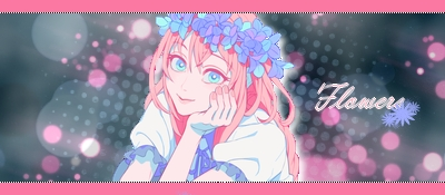 Signature Flowers blue'n'pink