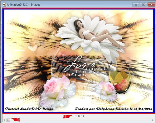 Traduction If love is a petal de Linda PSP Design