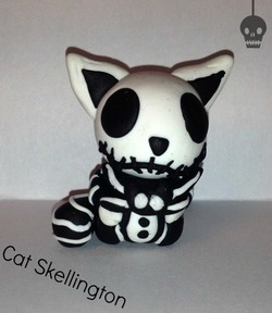 Figurine du chat de MR.Jack, Tim Burton, en fimo