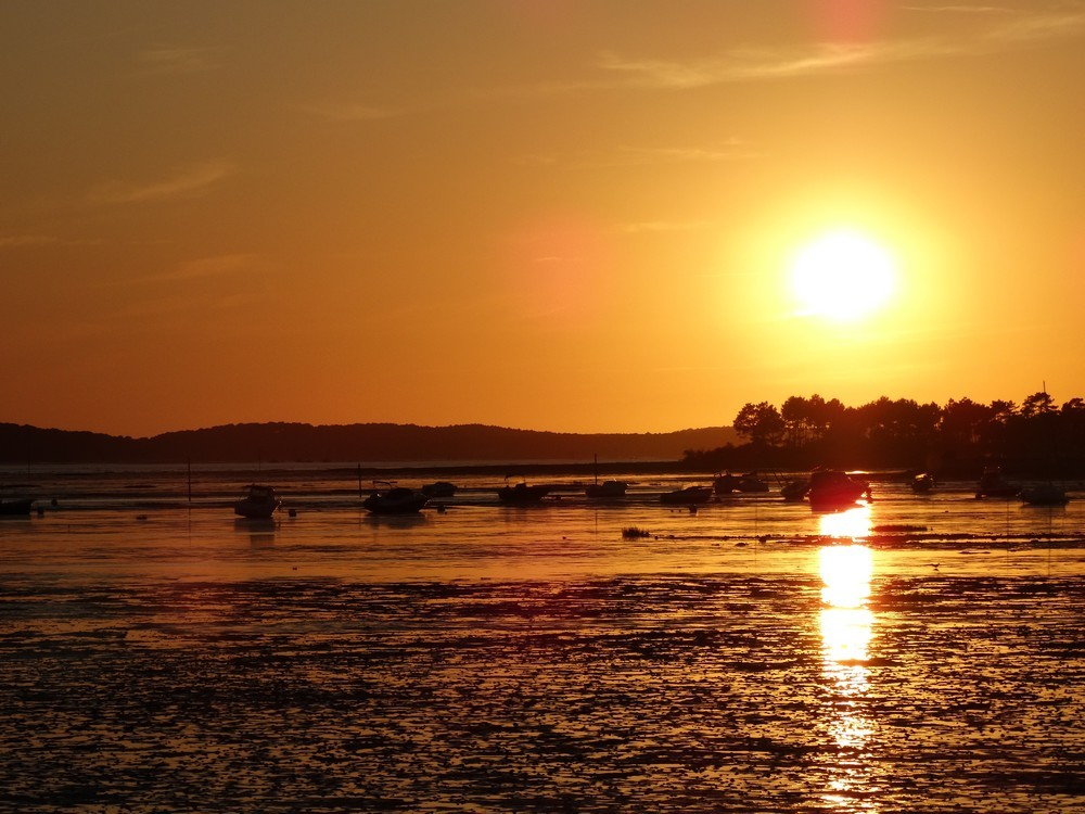 Coucher de soleil à Andernos - juillet 2015...