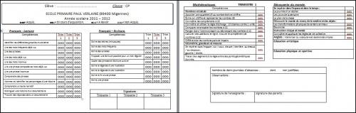 Bulletins CP trimestre 1