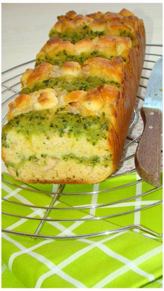 CAKE AU BOURSIN ET COULIS DE COURGETTE