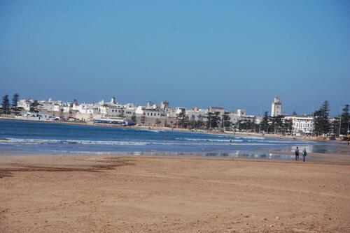 Essaouira toute de blanc vêtue