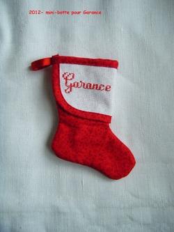 Une mini-botte de Noël pour Garance