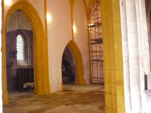 Achèvement de la première tranche de travaux dans l'église