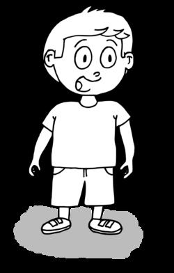 Dessin - petit garçon qui parle