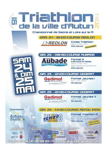 Triathlon d'Autun 24 et 25 mai 2014