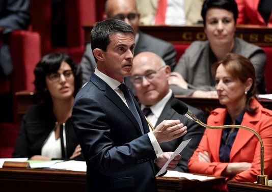 Manuel Valls à l'Assemblée nationale, le 6 juillet 2016.
