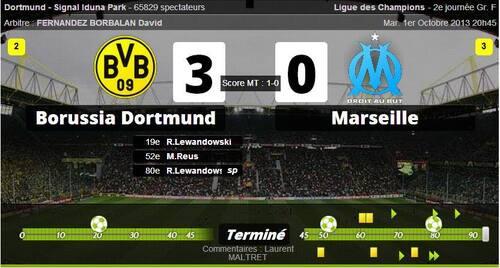 01 Octobre 2013 - LDC - Dortmund 3-0OM