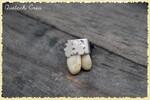 broche argent et dents de cerf