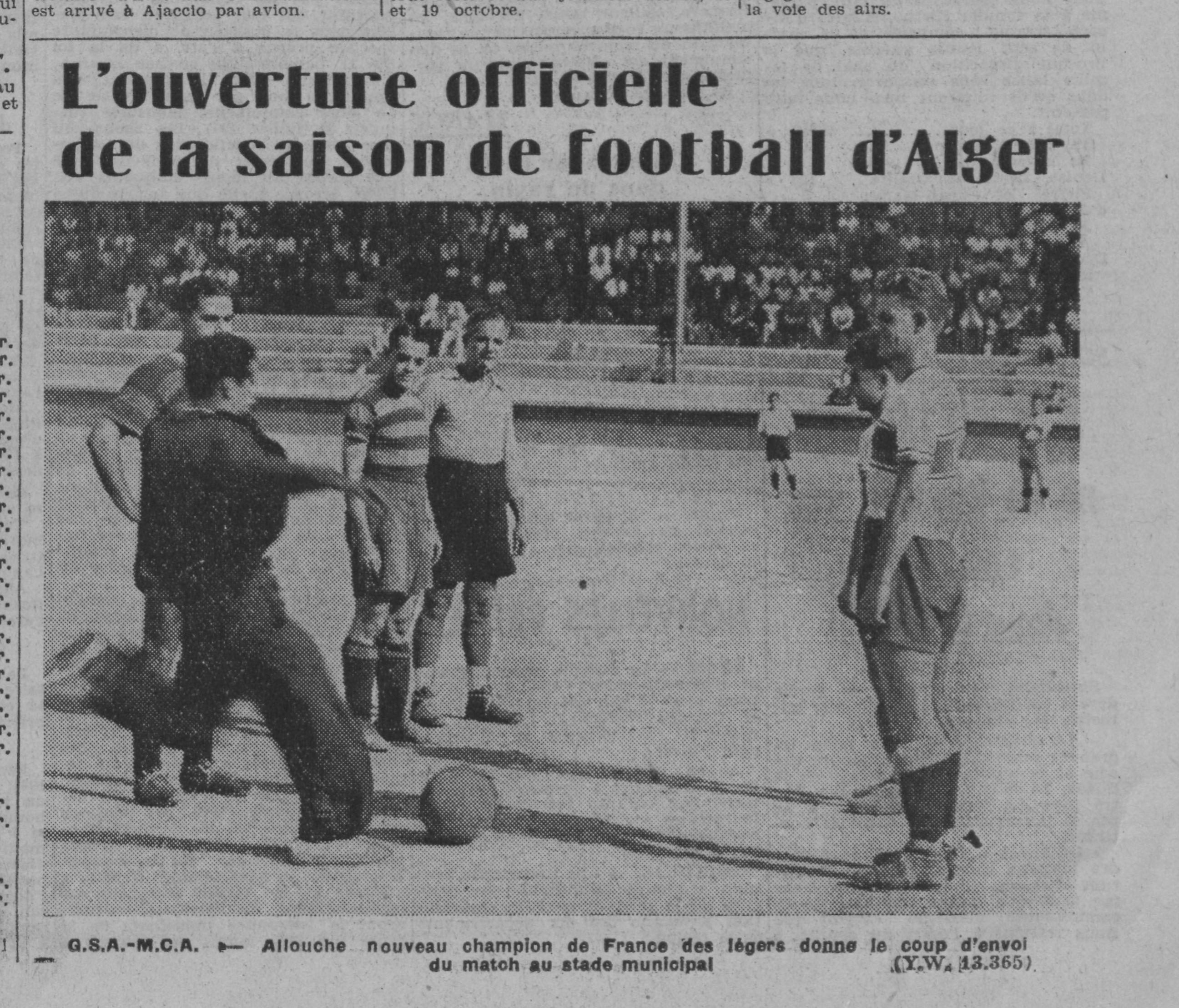 GSA-MCA 1er match de la saison  1941/1942,