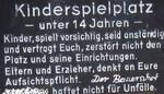 Spielplatz-Warnschild vom Bodensee
