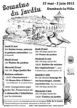 2ème Semaine du Jardin du 27 mai au 2 juin