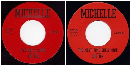 JOE TEX - MICHELLE RECORDS MX-934 - 1964