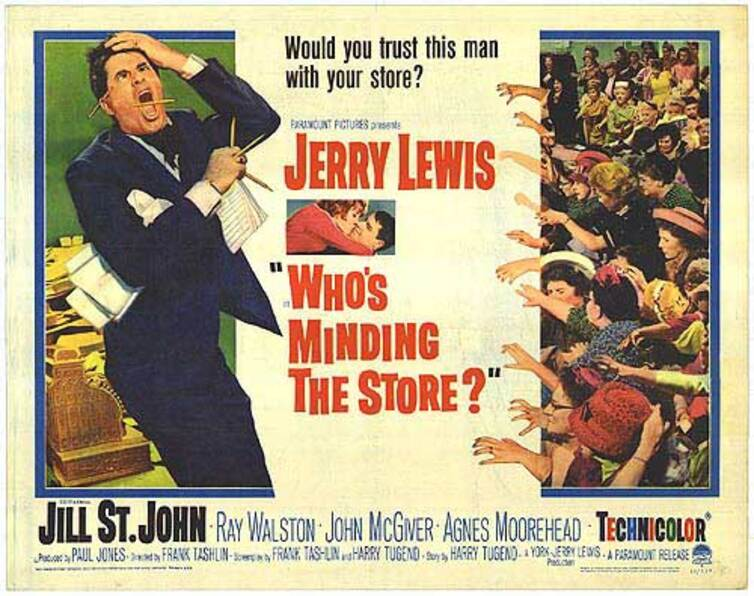 UN CHEF DE RAYON EXPLOSIF -  JERRY LEWIS BOX OFFICE 1964