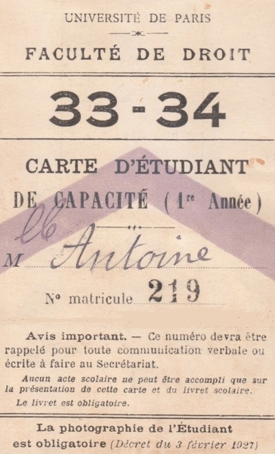 L'origine du certificat de capacité en droit (L. 13 mars 1804)