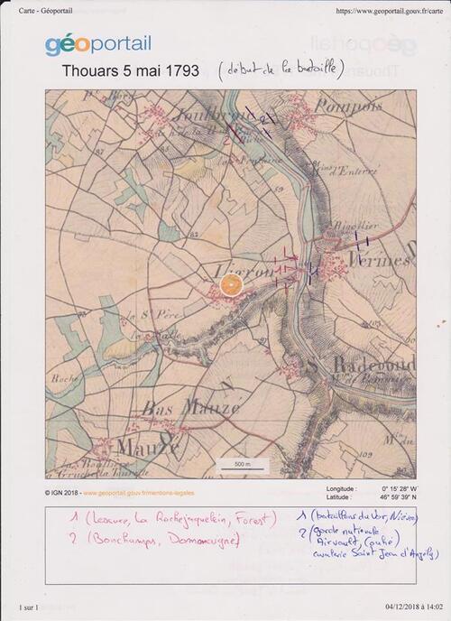 La bataille de Thouars....