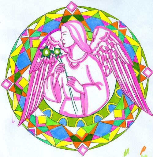 DOMANDALAS  coloriages mandalas angéliques Joane Michaud