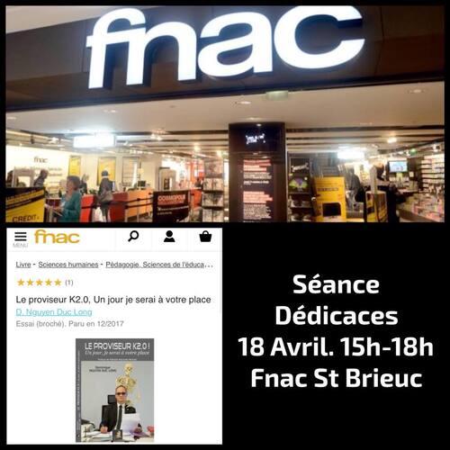 Séance de dédicaces à la FNAC...