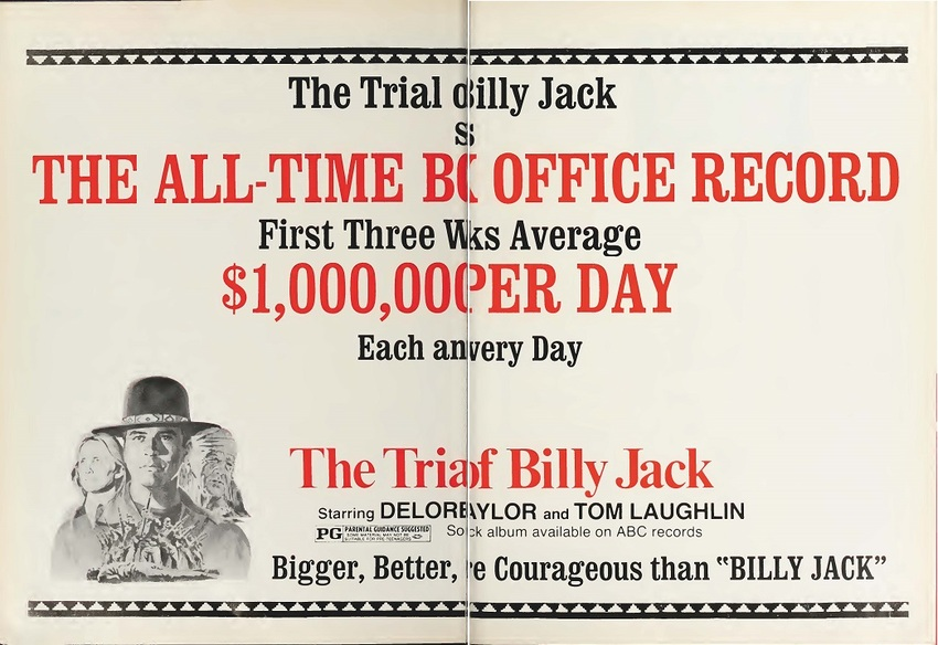 THE TRIAL OF BILLY JACK  BOX OFFICE USA 1974