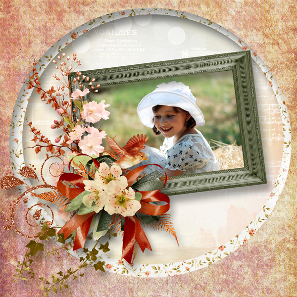 Peach tenderness de Scrap'Angie