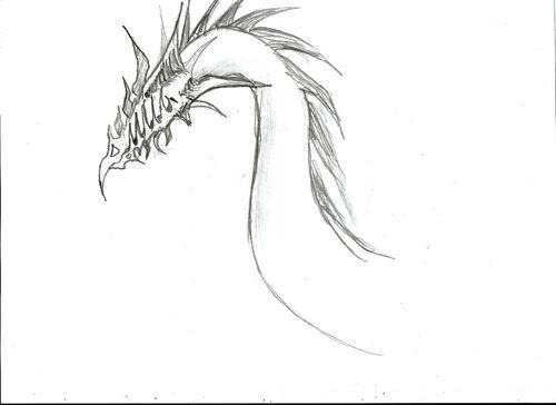 Design dragon sans yeux