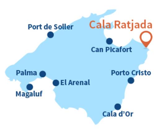 Cala Aguila   -  à l'est de l'île