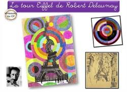 La Tour Eiffel de Robert Delaunay