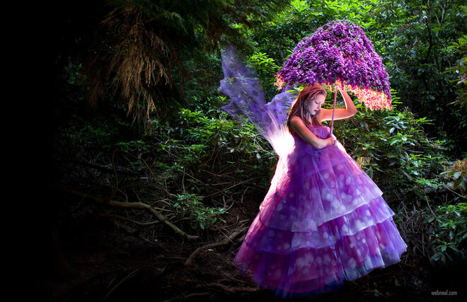fantasy photography woman portrait the foxglove fairy
