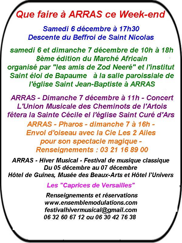 les fêtes Arras du 5 au 7 décembre 2014
