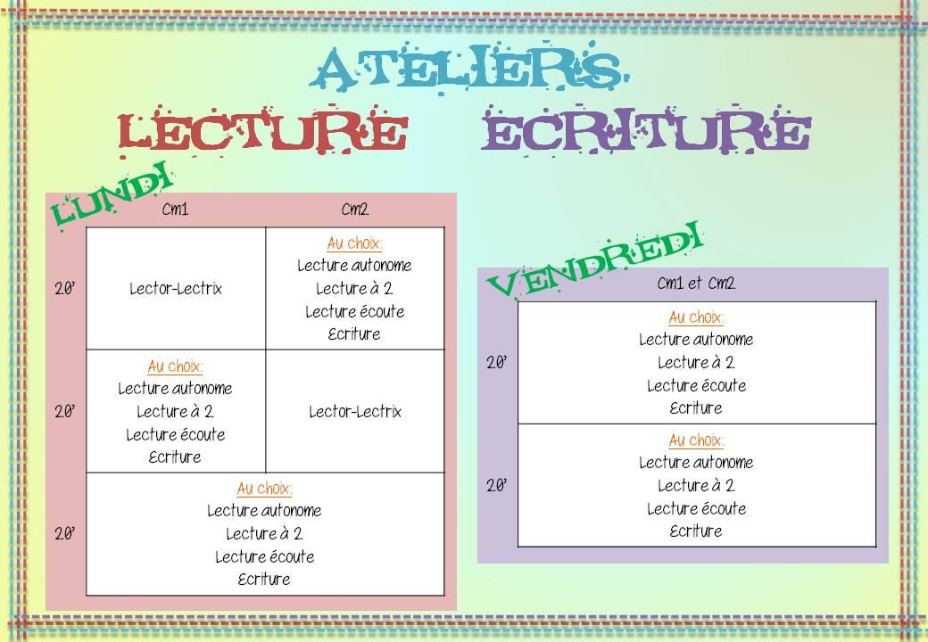 Préférence Mes ateliers de lecture / écriture - Loustics IV71