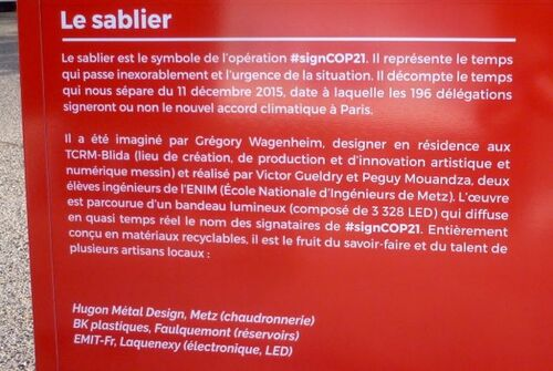 #signcop21 à Pompidou Metz