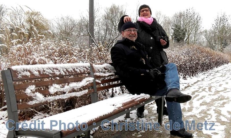 Metz / Le parc de la Seille sous la neige...
