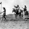 Many Shots(Kainai Blackfoot) Calf Bull (Siksika Blackfoot) and White Headed Chief (Siksika Blackfoot