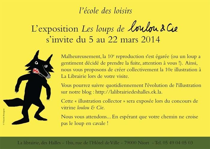 """"""" Loulou et Cie """" fête ses 20 ans et expose ses Loups à La Librairie"""