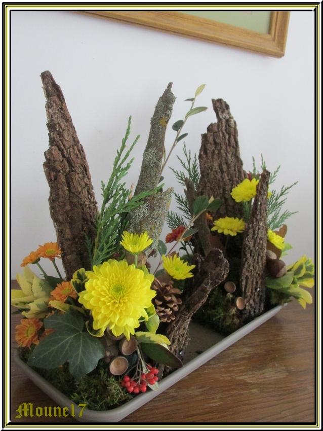 Cours d'Art floral du mois d'octobre 2015