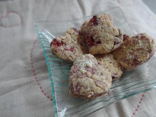 Petits biscuits à l'huile d'olive et aux framboises [Vegan]