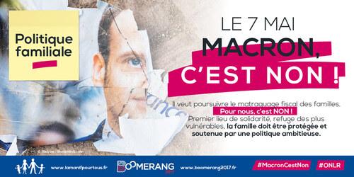 Communiqué de La Manif pour Tous : Le 7 mai : Macron, c'est non !