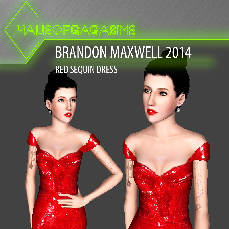 BRANDON MAXWELL 2014 RED SEQUIN DRESS