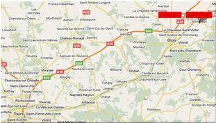 Situation locale de Montlivault et de Ménars