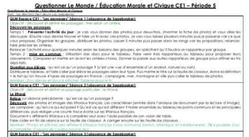 QLM EMC CE1 période 5 (année scolaire 2018/2019)