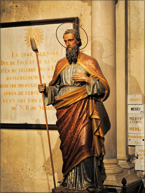 Photo de la statue de Saint Antoine (N.D. de Verdelais)